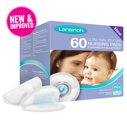 Pack of 60 New Blue Lock Lansinoh Breast Pads