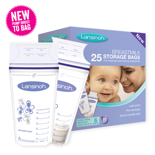 New25 PACK Lansinoh breastmilk storage bags